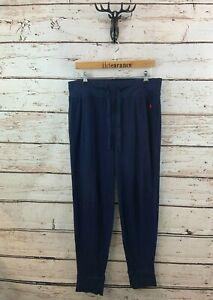 RALPH LAUREN Mens Sleepwear Joggers Lounge Pants XL W36 L31 Navy Blue Cotton