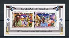 Burundi 2014 MNH UIT ITU Satellites 2v M/S Telecommunication Eutelsat Rascom