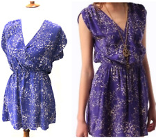 Urban Outfitters Kimchi Blue Silk Faux Wrap Sundress Mini Dress Large Floral