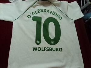 vintage soccer Jersey Retro d'alessandro wolfsburgo size L