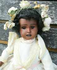 Rare Bahr & Proschild 277 Small Jointed Antique Black Doll 28cm/11 Inch