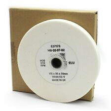 "Elu E37173 175mm (7"") x 20mm x 20mm White Bench Grinding Wheel. Made in UK. 180"