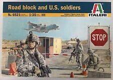 Italeri 6521 1/35 scale road block et soldats américains modèle kit nib
