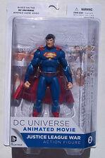 DC UNIVERSE JUSTICE LEAGUE WAR. SUPERMAN ACTION FIGURE. NEW ON CARD