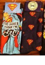 DC comics socks Superman Logo size 6-12 6 pairs super Justice League