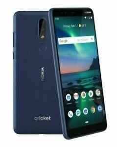 Nokia 3.1 Plus Smartphone - 32GB - Blue (Cricket Wireless) TA-1124 A stock