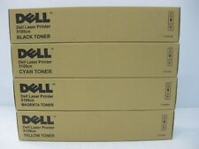 Dell 5100CN Toner Set New Genuine *** MINT BOXES *** SHIPS OVERBOXED ***