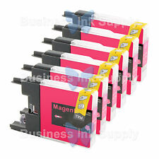 6 MAGENTA LC71 LC75 Compatible Ink Cartirdge for BROTHER Printer MFC-J435W LC75M
