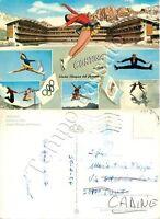 Cartolina di Cortina d'Ampezzo, pattinaggio sul ghiaccio - Belluno, 1967