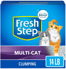 Fresh Step Scented Litter w/ The Power of Febreze Clumping Multi-Cat Litter 14lb