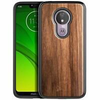 For T-Mobile REVVLRY / REVVLRY Plus Case Ultra Slim Protective Bumper Wood Cover