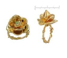 DISNEY COUTURE PRINCESS & FROG LOTUS FLOWER GREEN SWAROVSKI RING~SZ 8~SWEET GIFT