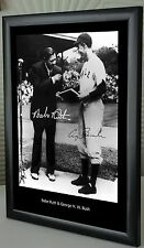"Babe Ruth & George H. W. Bush 1948  Framed Canvas Portrait Signed ""Great Gift"""