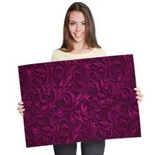 A1 - Purple Ornate Flowers Art Deco Poster 60X90cm180gsm Print #14612