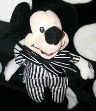 "Disney Store Nightmare Before Christmas Mickey Jack Skellington 6"" Plush Beanie"