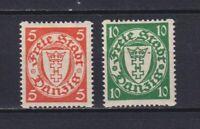 DANZIG GERMANY 1932, Mi#193D-194D, CV €35, MH