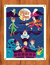 TIN SIGN Disney's Peter Pan's Flight Attraction Movie Ride Art Poster