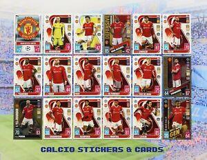 Topps Match Attax 2021/22 Full Manchester United Team Set All 18 Cards + Foils