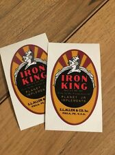 Planet Jr. Iron King Decal for seeders and cultivator  2 for 1 price free ship