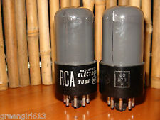 2 Vintage Smoked RCA 6SN7 GT Stereo Tubes Results = 2660/2260  2825/2710