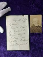 British Prime minister Lord John Russell, 3 sided, signed letter with photo