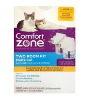 Comfort Zone MultiCat Two Room Diffuser Kit for Cats Kittens - RETAIL PACKAGING