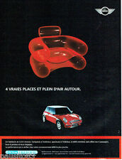 PUBLICITE ADVERTISING 115  2004  la MINI COOPER