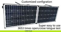12V 140W Folding solar panel. Suit Lead Acid & Lithium Bat. Customized config.