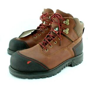 RED WING 3500 BRNR XP Size 8.5 EE Steel Toe Waterproof Mens Work Boots MSRP $249
