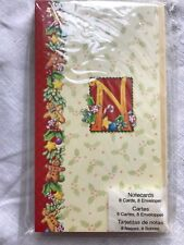 Mary Engelbreit Christmas Note Cards & Envelopes 8 count Letter N New