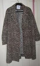 ZARA Ladies Cotton Leopard Skin Pattern Coat / Jacket - XL, Knee Length