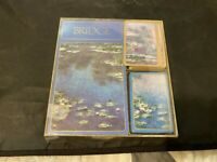 VINTAGE CASPARI BRIDGE PLAYING CARDS GIFT SET WATERLILIES & CLAUDE MONET