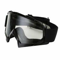 Motocross Motorradbrille Brille Motorrad Quad ATV Off Road Schutz MX Schwarz