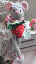♥~ Mäusemädchen mit Erdbeere ~♥ Tilda ♥ Impressionen ♥ Sommer ♥ Muttertag ♥Sweet