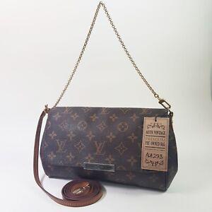 Auth Louis Vuitton Favorite MM Monogram M40718 Guaranteed Mini Clutch Bag ALA293
