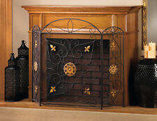 iron fireplace screen divider fire place new