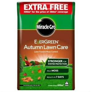 Miracle-Gro Evergreen Autumn Lawn Grass Care Feed Food Moss Killer 400m2 14kg