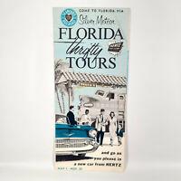 1957 Seaboard Air Line Railroad Travel Brochure Florida Tours Hertz Rent A Car