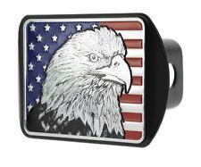 USA US American Flag Eagle Metal Flag Emblem on Metal Trailer Hitch Cover (Fi...