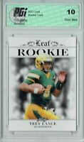 Trey Lance 2021 Leaf Exclusive Rookie Card #4 Only 5k PGI 10 w Kyle Trask error