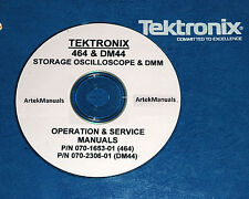 TEKTRONIX 464 Oscilloscope & DM44 DMM Option Operating & Service Manuals