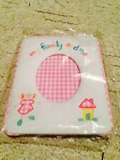 NIB New My Family And Me Soft Frame Pink Nursery Baby Shower Girl Gingham