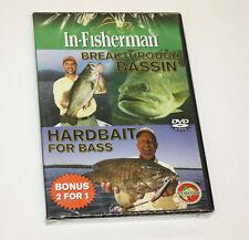In-Fisherman Dvd - Breakthrough Bassin and Hardbait for Bass - 2 for 1 - New