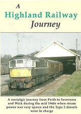 A Highland Railway Journey Dvd: Type 2 Sulzer Diesel Perth Inverness Wick Thurso