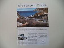 advertising Pubblicità 2002 CAMPER MERCEDES BENZ