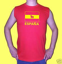 ESPAGNE: T.SHIRT rouge sans manche España jaune M à XL