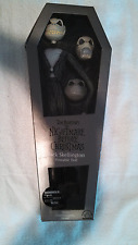 "Jack Skellington 12"" Poseable Doll (With 3 Interchangable Heads) by Applause NEW"