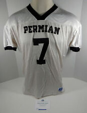 2004 Friday Night Lights Permian Panthers #7 Screen Worn Used White Jersey