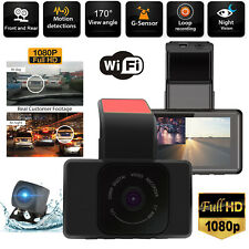 """New listing 3"""" Wifi Dash Cam Dual Lens Hd 1080P Front and Rear Camera G-Sensor Night Vision"""