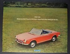 1971 Fiat 124 Brochure Sport Coupe Spider Wagon Special Excellent Original 71